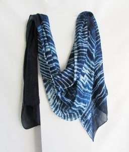 navy silk scarf