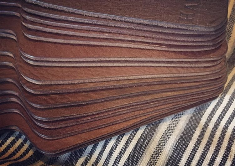 vegetable tanned leather samples