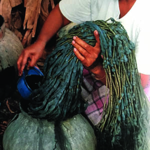 ikat weaver